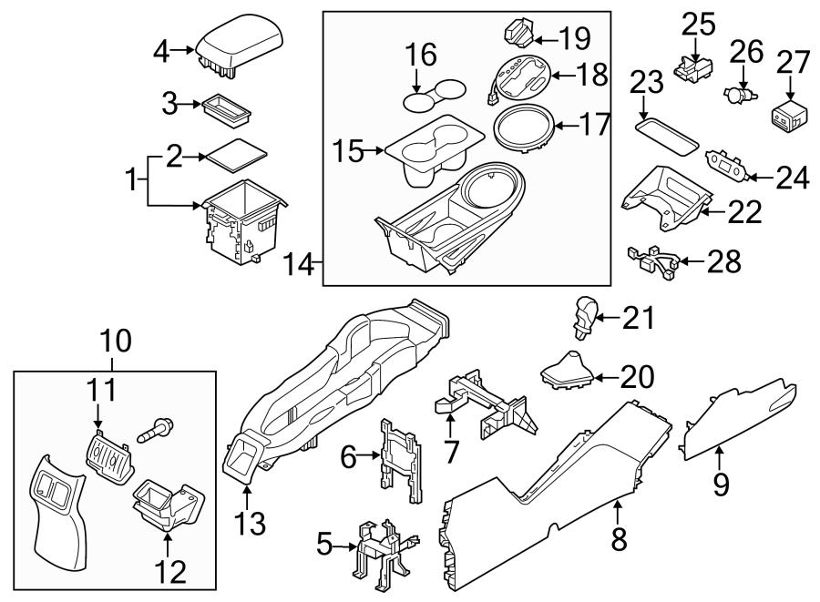 2016 Kia Console Wiring Harness  2014-16  W  Heated Seats  W  Cooled Seats