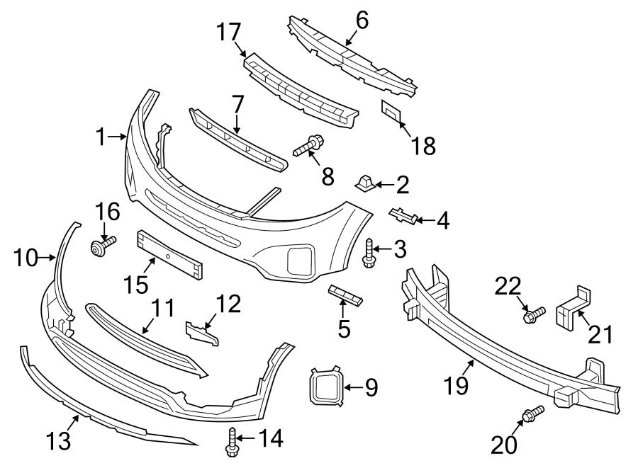 2015 Kia Sorento Powertrain Skid Plate Skid Plate Part 865661u700