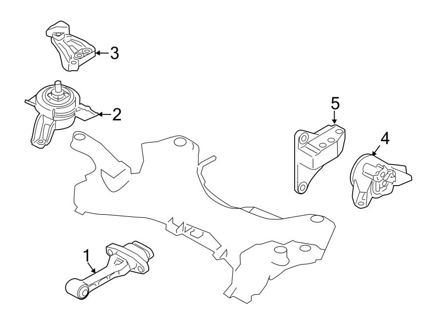 2015 Kia Sorento Manual Transmission Mount  Rear   Liter