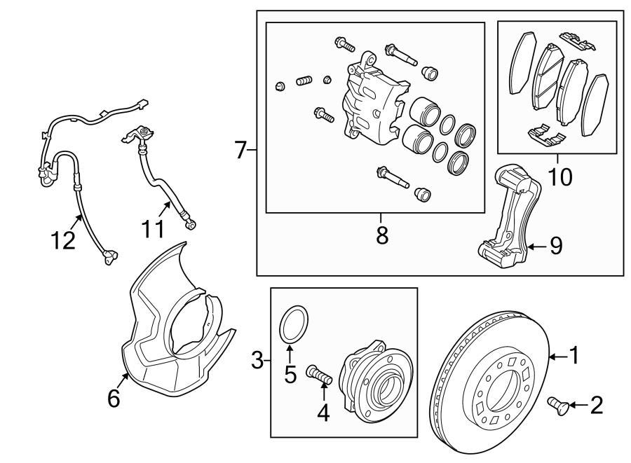 kia sorento caliper  disc brake caliper  front left  exc