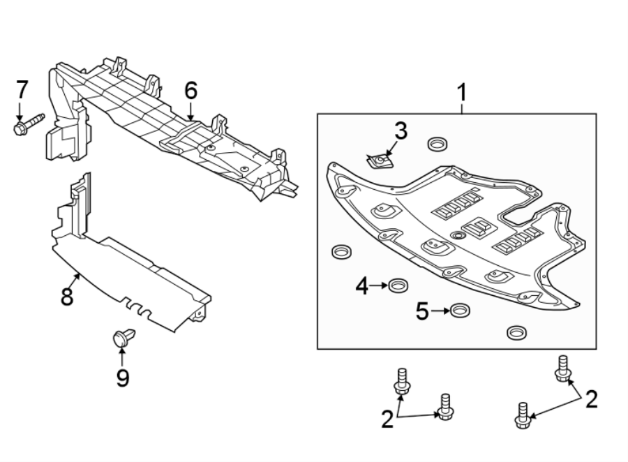 Kia Sorento Radiator Support Splash Shield  Under Cover