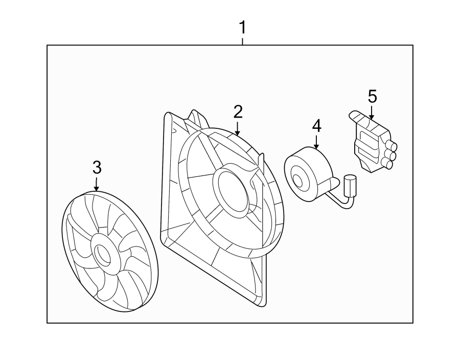 Kia Sedona Engine Cooling Fan Controller  Entourage  Sedona  Assembly