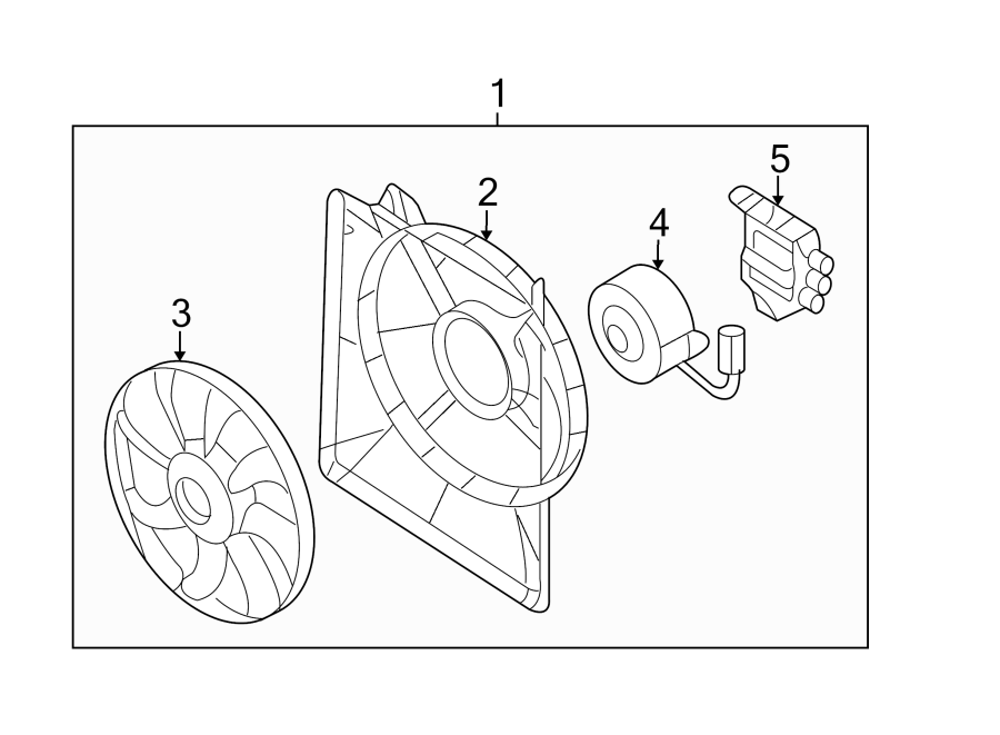 kia sedona control module  engine cooling fan controller