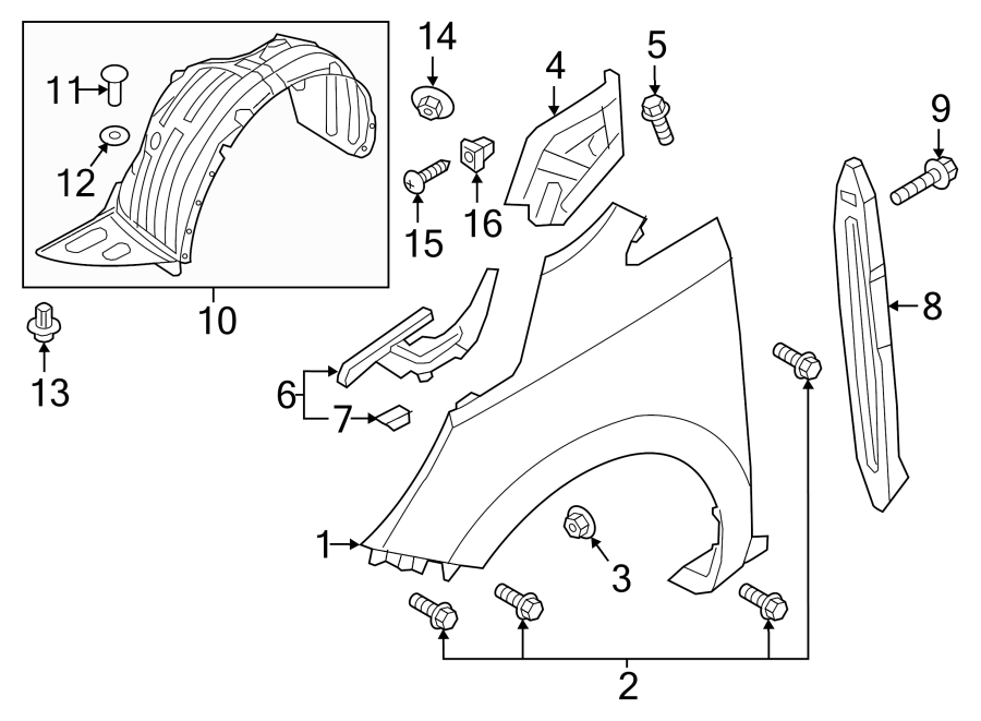 Kia Sedona Fender Liner  Guard Assembly
