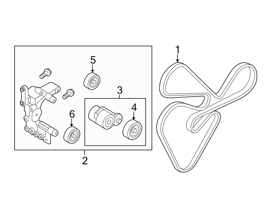 2011 kia optima pulley  tensioner  accessory  drive  liter  hatchback  adjuster
