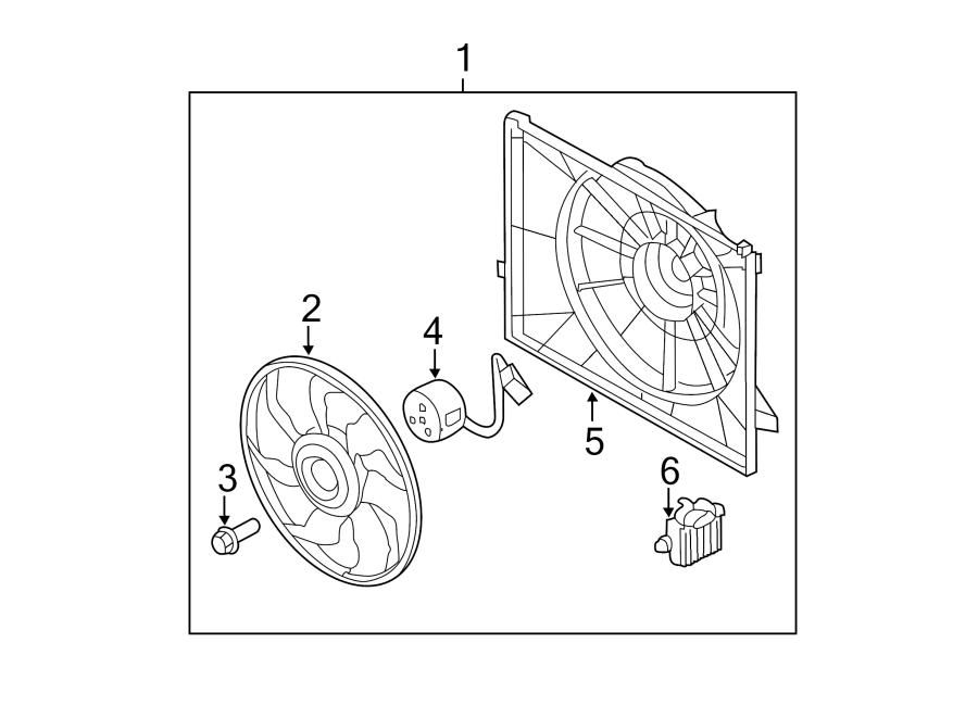 2014 Kia Optima Engine Cooling Fan Motor