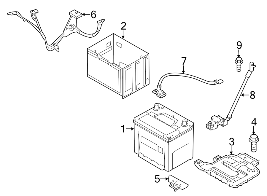 2014 kia soul battery cable  positive cable  wiring