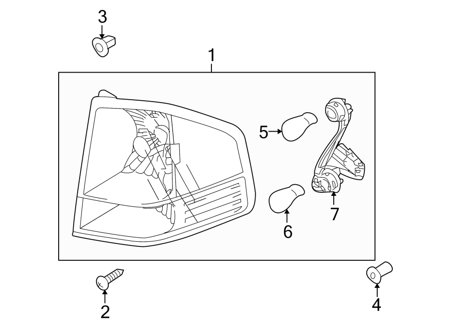 Kia Borrego Tail Light Harness