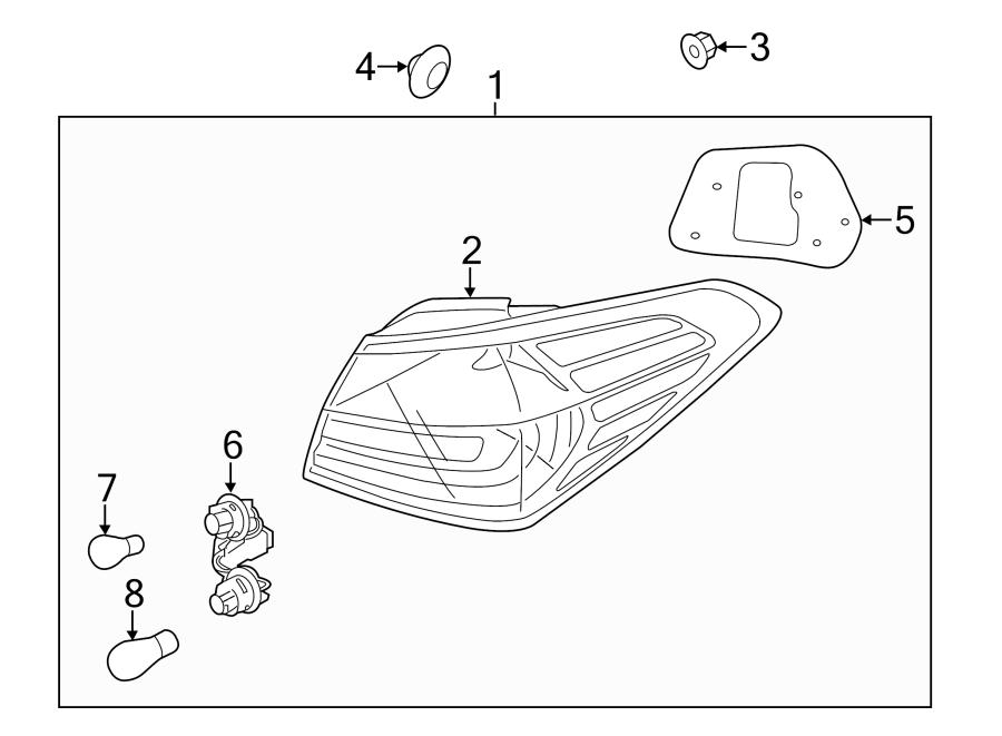 Kia Forte Tail Light Socket  Rear   W  O Led  Lamps  Lamp