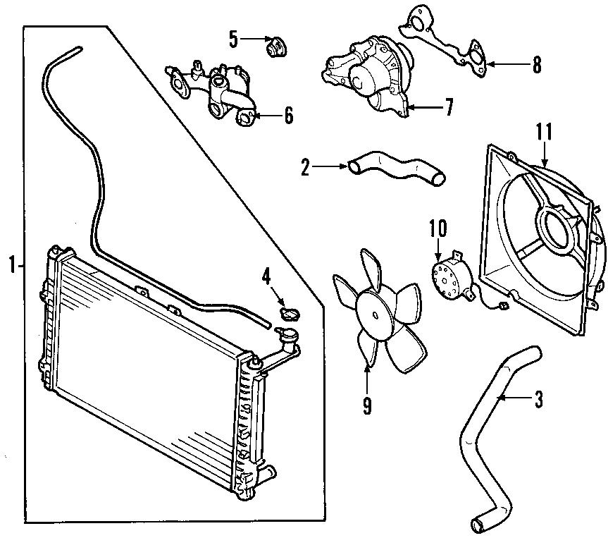 2005 Kia Sedona Engine Coolant Thermostat