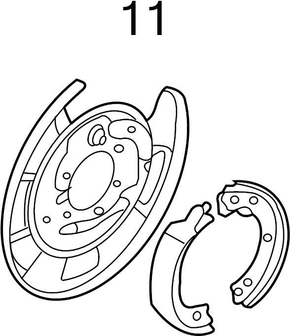 Kia Sedona Backing Plate  Brake Dust Shield  Parking Brake