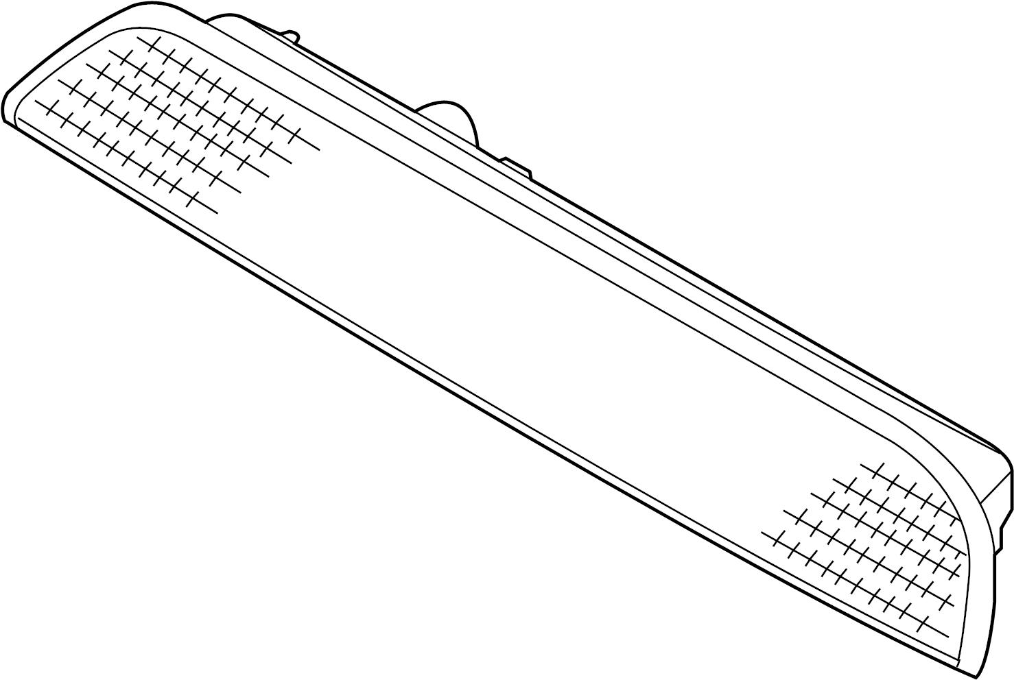 kia sedona center high mount stop light  lamp  rear