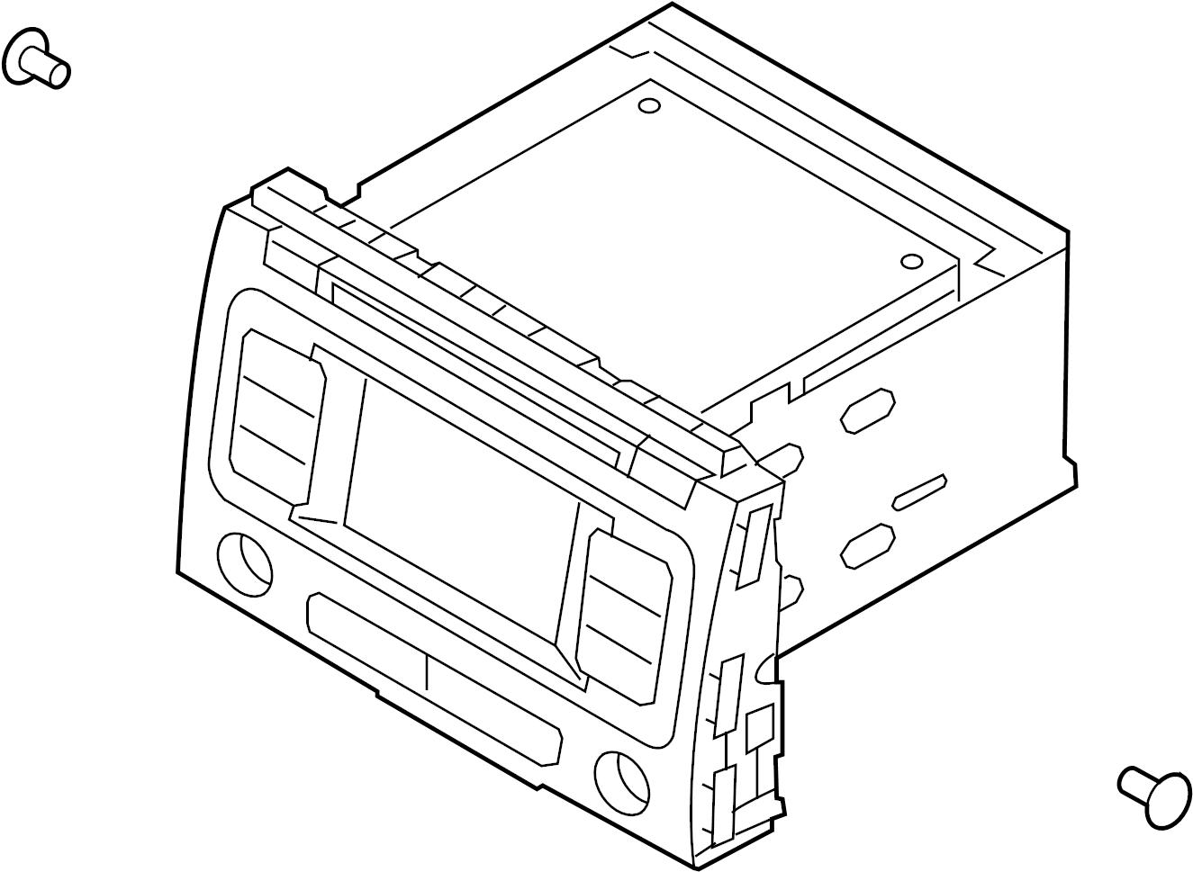 kia sedona head unit assembly - avn  radio control unit  receiver