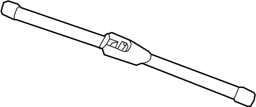 Kia Forte5 Back Glass Wiper Blade  Rear   Back Glass Wiper